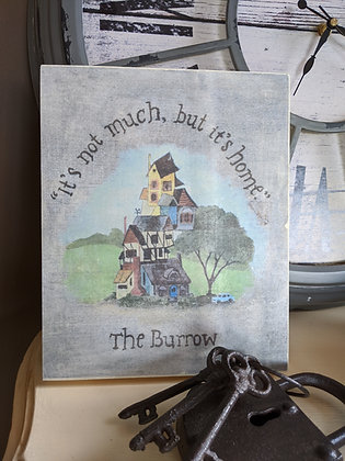 The Burrow  Rustic) Sign