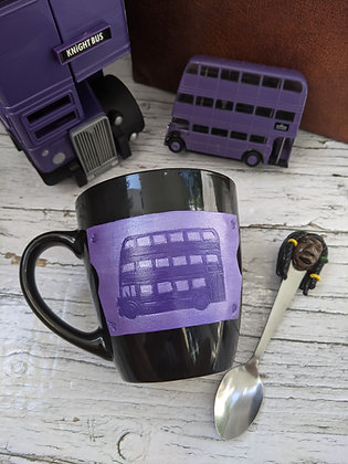 Bus Mug and Spoon Set.