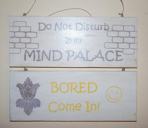 Mind Palace (Rustic) Door Sign