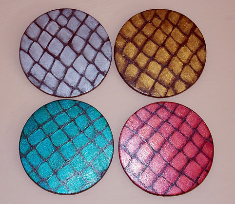 Dragon Scale Coasters