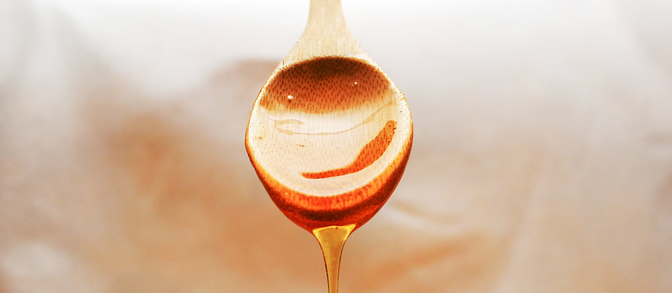 close up of honey flowing