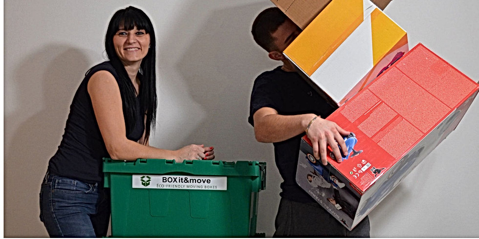 Recicled moving boxes from BOXit&movevs