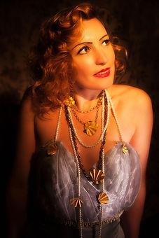 Studio portrait of a beautiful woman in