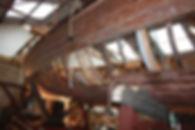 Osprey's planking removed on portside.JPG