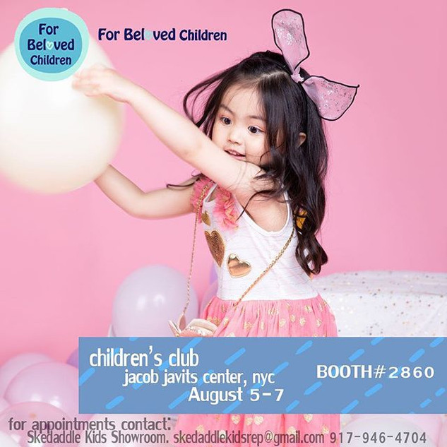 Find us at the Children's Club NYC show in Jacob Javits Center from August 5-7! Our booth number is #2860! Book your appointments today! #ch