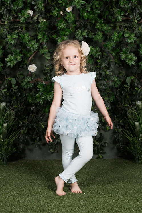 Camila Baby Blue 2-Piece Tutu Legging Sets