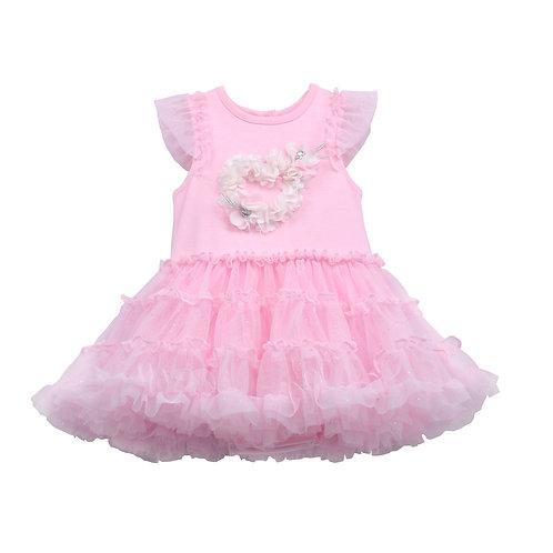 Gaia Pink Tutu Dress With 3D Heart