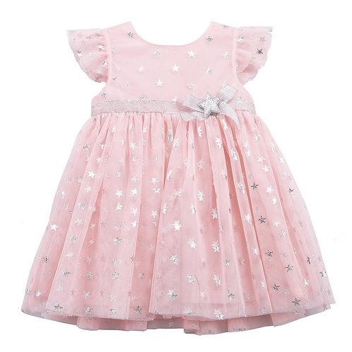 Giulia Pink Silver Star Dress