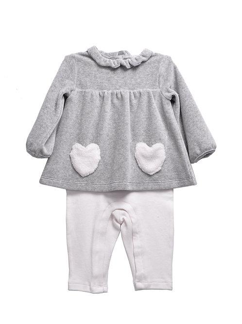 Zephyrine Grey Baby Bodysuit