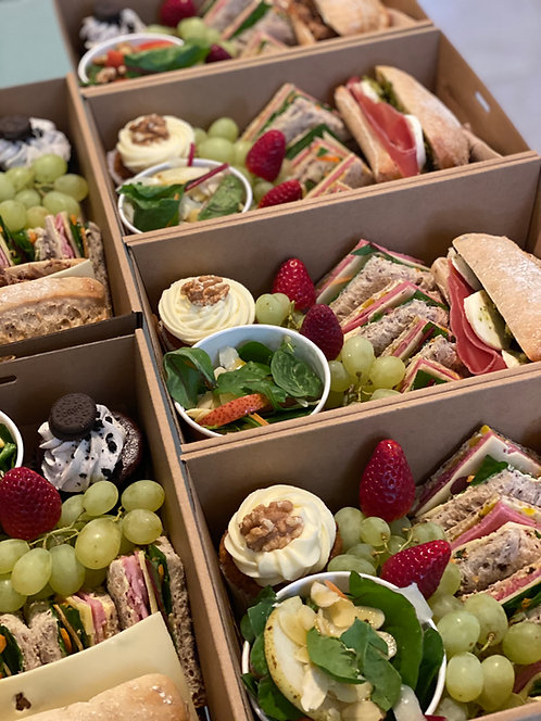 Corporate gourmet lunch boxes (4 individual boxes)