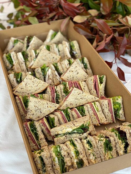 Gourmet sandwich platter