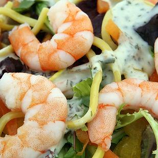 Prawn salad with hokien noodles