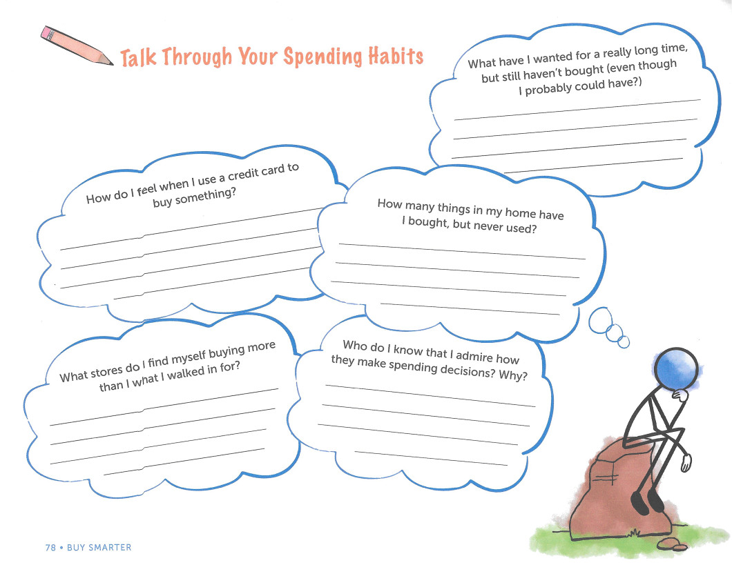 Talk through you spending habits