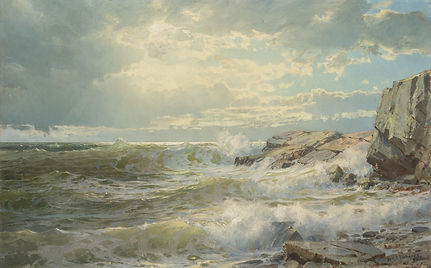 William Trost Richards | Off Conanicut | Seascape