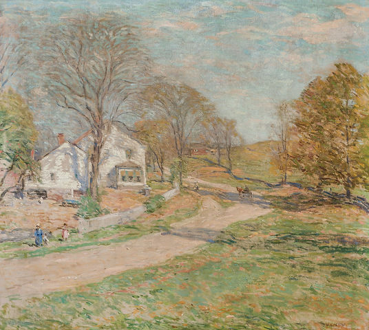 """WILLARD LEROY METCALF-""""THE ROAD THAT LEADS HOME"""""""