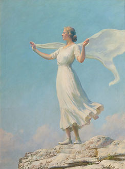 Charles Courtney Curran | The South Wind (Breezy Day) | Oil Painting on canvas
