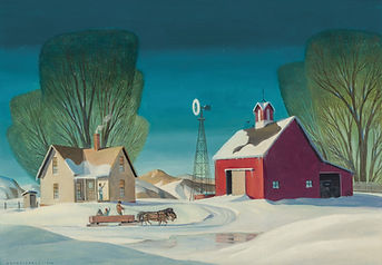 Dale Nichols | Winter on the Farm | Regionalist