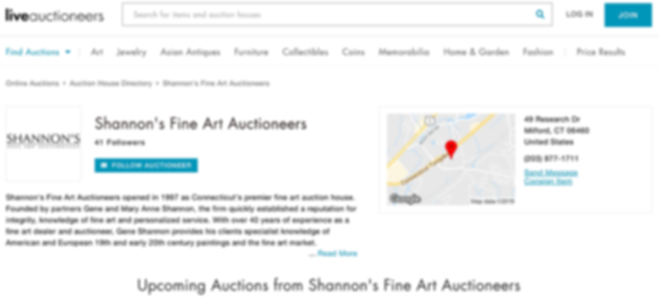 Bid Live Online in Shannon's Auctions with LiveAuctioneers