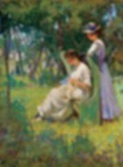 MARY BRADISH TITCOMB  American (1858-1927)  Two Girls, Old Lyme c. 1905