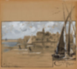 """""""CHURCH POINT,"""" PORTSMOUTH  (ILLUSTRATION FOR """"PEDALING ON THE PISCATAQUA"""")"""