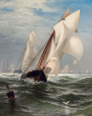 "EDWARD MORAN-""THE WINNING YACHT"" (MADELEINE AND COUNTESS OF DUFFERIN)"