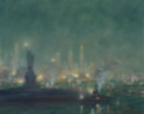 NOCTURNE (STATUE OF LIBERTY AND MANHATTAN SKY LINE)