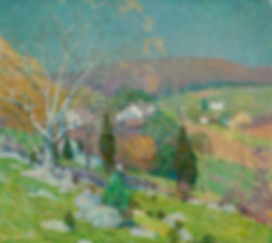 WILLIAM CHADWICK American (1879-1962) ALONG THE HILLSIDE, OLD LYME