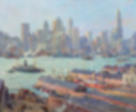 Colin Campbell Cooper | New York from Brooklyn | Oil Painting