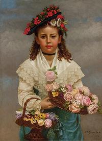 JOHN GEORGE BROWN-The Flower Girl