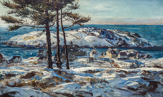 "ANDREW WINTER-""BLUE DAY"" (MONHEGAN ISLAND)"