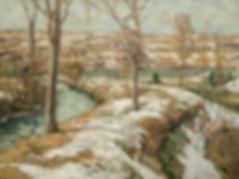 WALTER ELMER SCHOFIELD-WINTER LANDSCAPE
