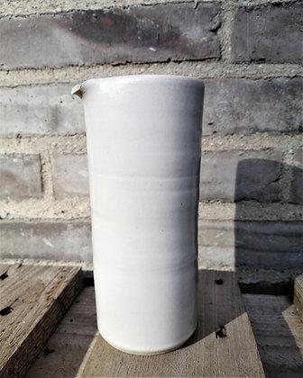 Cylinder mælkekande i hvid