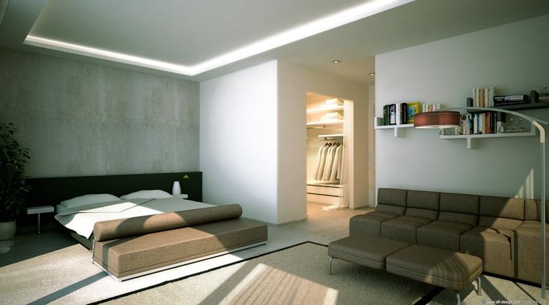 Interieur tweeslaapkamer-appartement