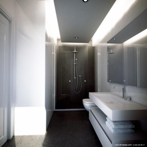 Voorbeeld afwerking badkamers