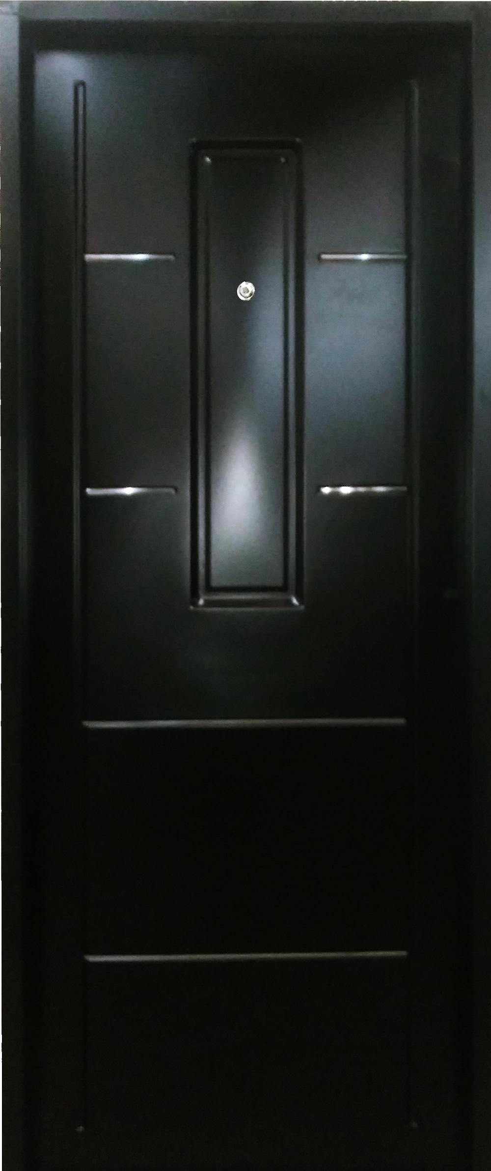 puerta inyectada apliques de acero inoxidable