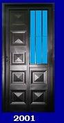 puerta reja lateral economica de chapa 80x2