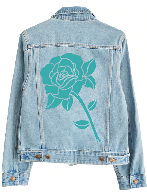 Stencil-look floral jacket design