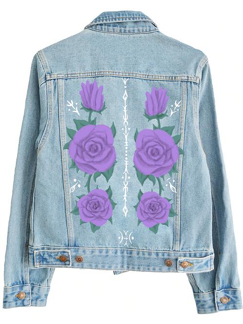 Purple floral jacket design