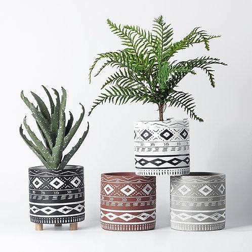 Nawa Cement Plant Pot, Flower Pot, Planter