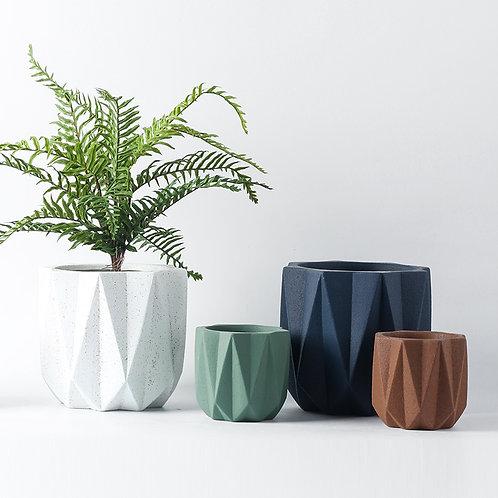 Hilda Cement Plant Pot, Flower Pot, Planter