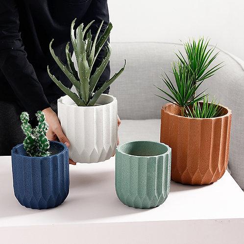 Iris Cement Plant Pot, Flower Pot, Planter