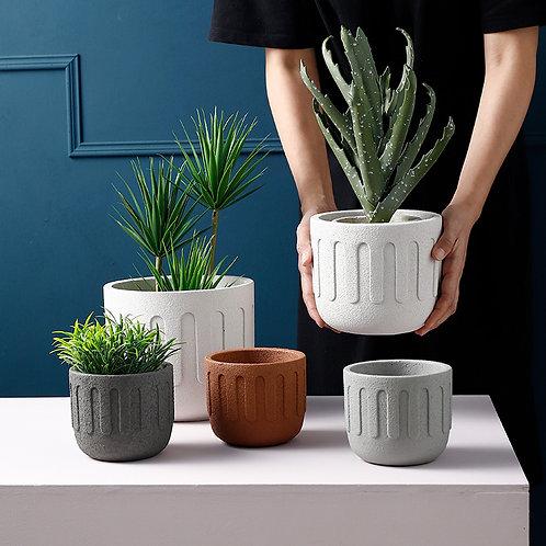Sylvia Cement Plant Pot, Flower Pot, Planter