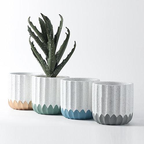 Greta Cement Plant Pot, Flower Pot, Planter