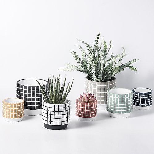 Arne Cement Plant Pot, Flower Pot, Planter