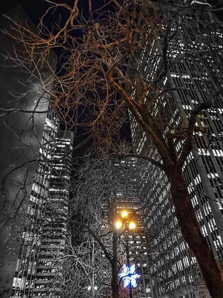 Christmas and Hanukkah in the city. _Hap