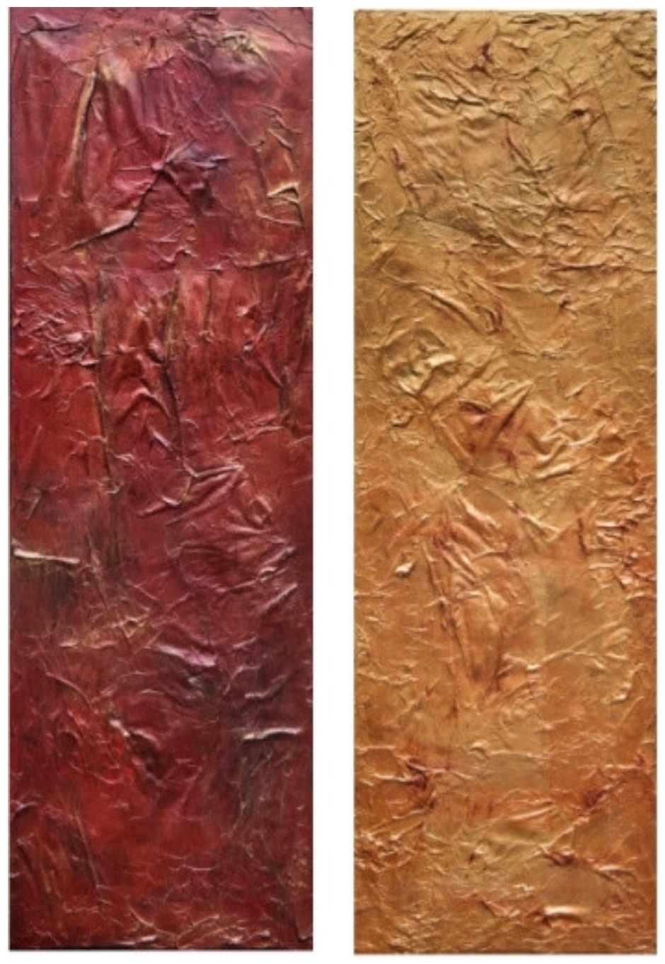 """Sunrise and Sunset 36""""H x 12""""Wx 1.5""""D each"""