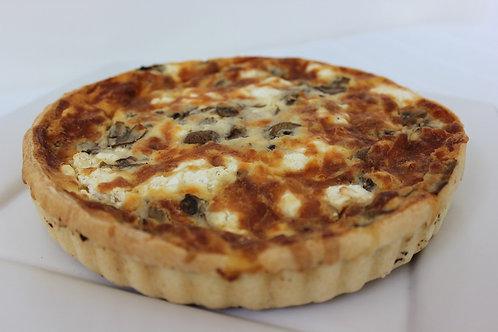Mushroom & Feta Quiche