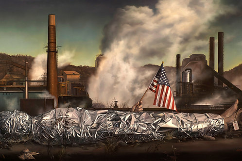 Made in America, 24 x 44, oil on Belgian linen