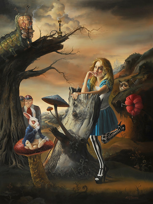 Alice in Wonderland, 24 x 18, oil on Dibond panel