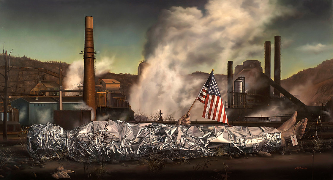 Made in America, 44 3-8 x 24, oil on lin